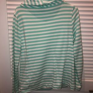 Vineyard Vines Striped Cowl Neck Pullover